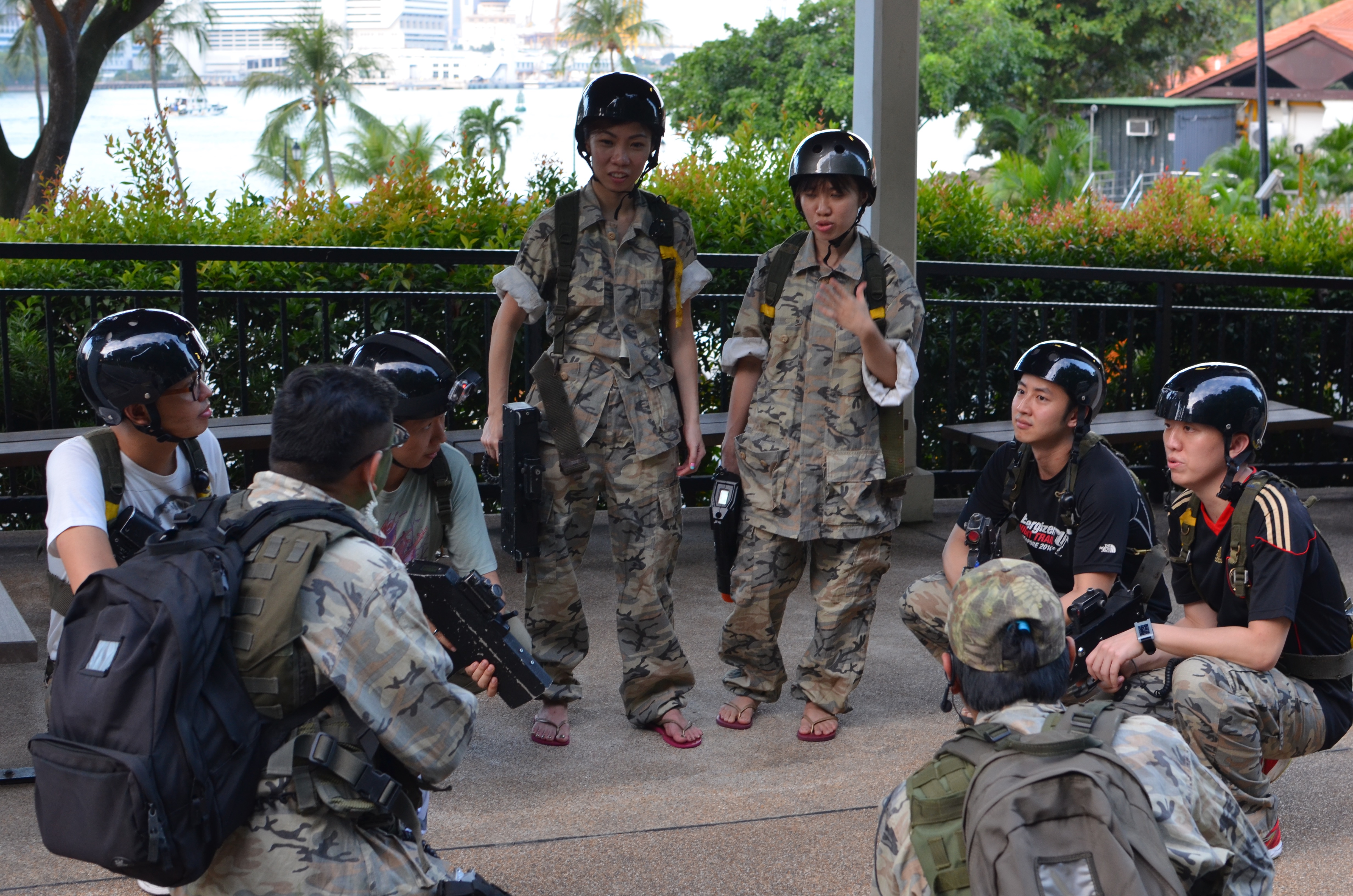 briefing about laser tag mission game