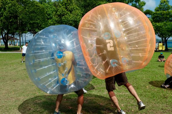 Bubble ball suits