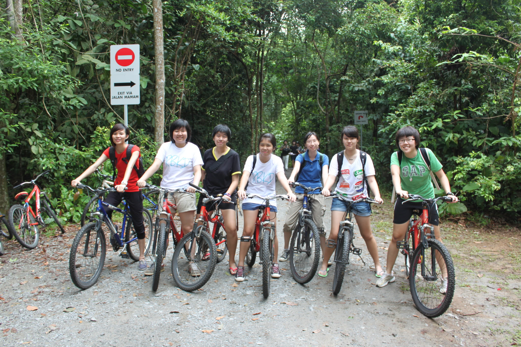 bonding session over cycling in Pulau Ubin