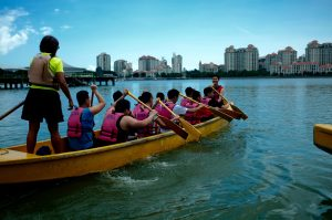 team building on Singapore waters