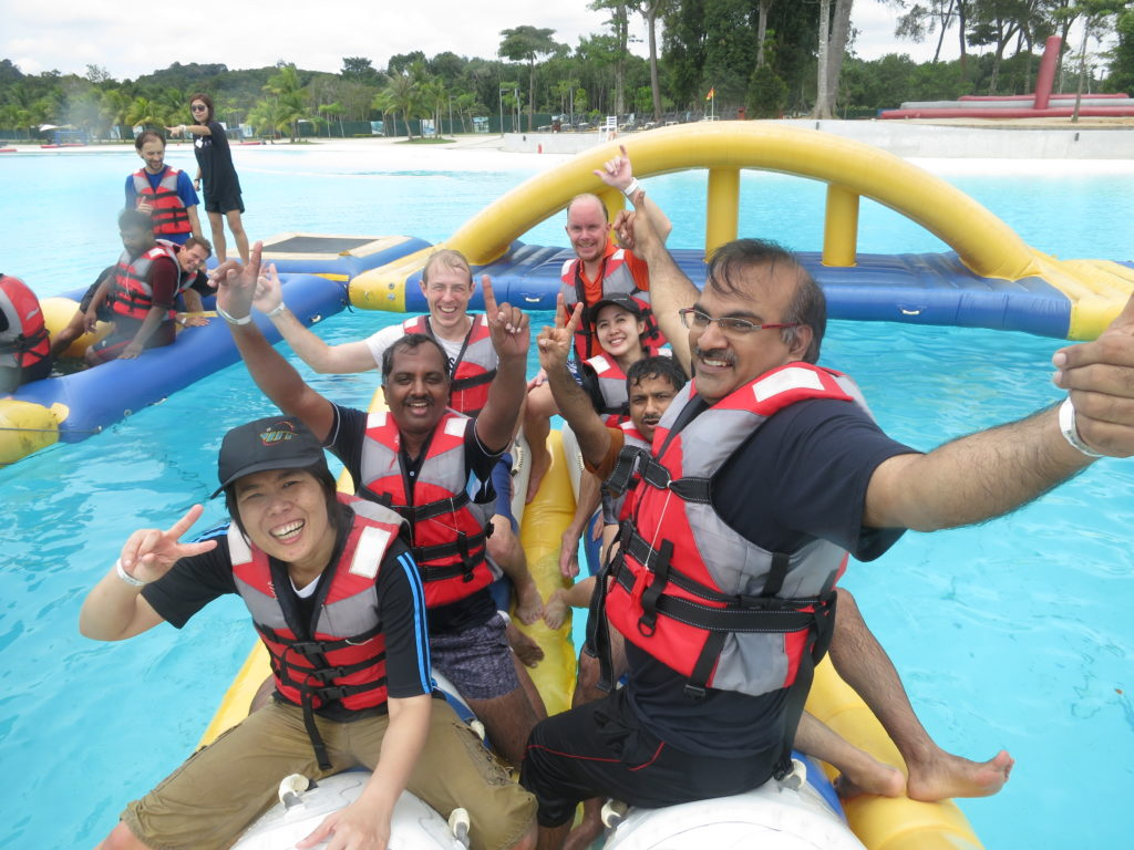 Watersports park teambuilding