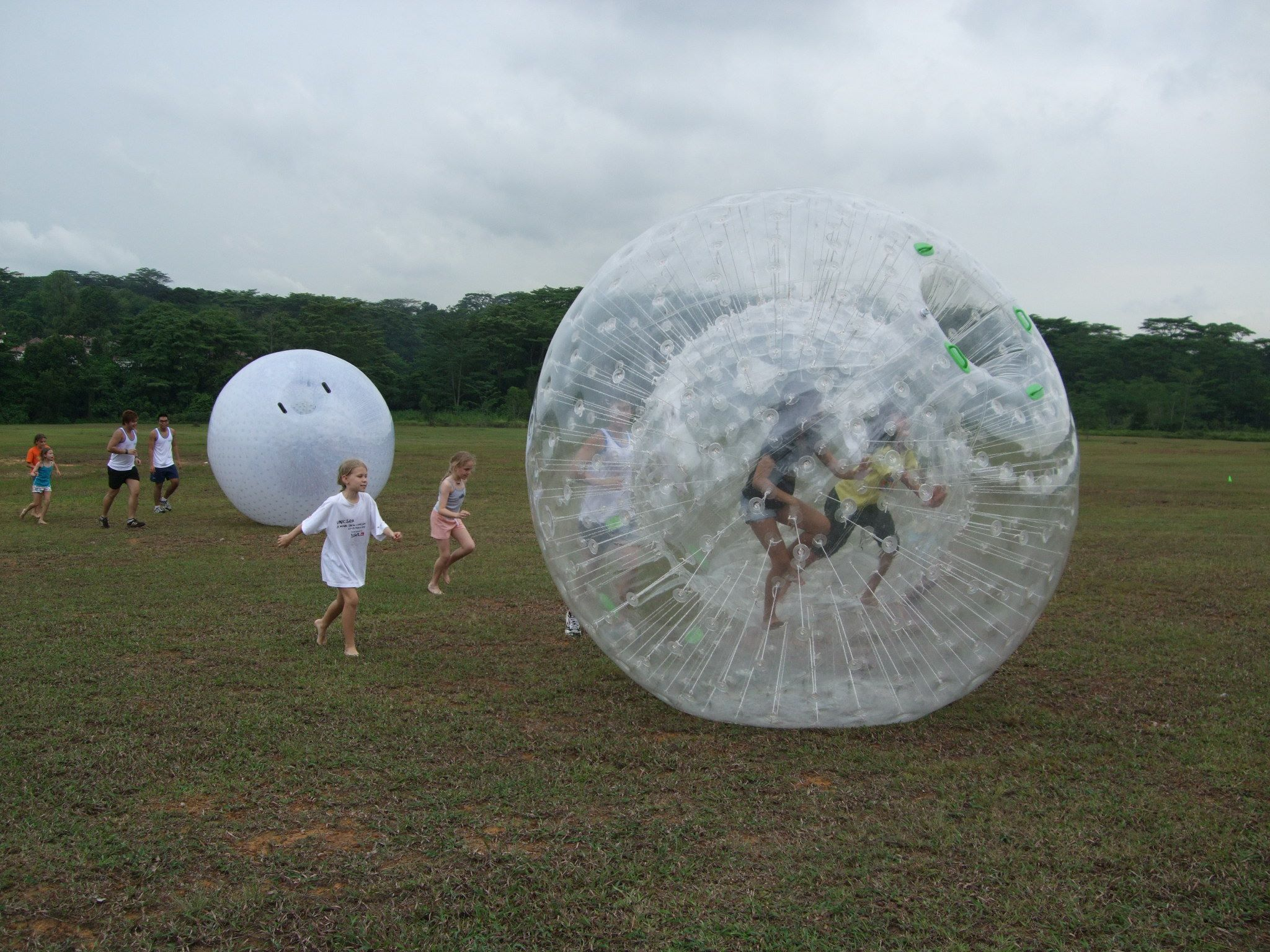 Bubble ball 'Land ZOVB' roll downs at Old Holland Road