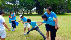 running man teambuilding activity challenge