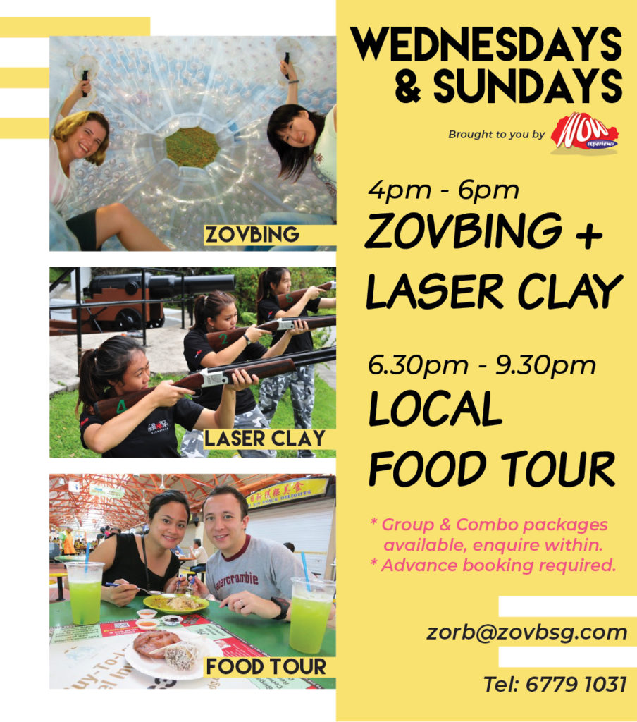 Things to do in Singapore - Zorbing & Laser Clay Shooting